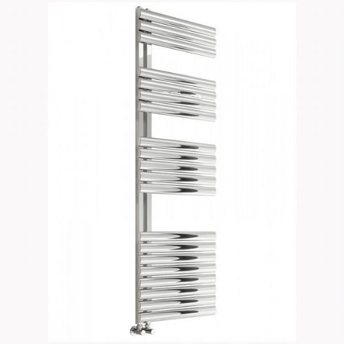 Reina Scalo Vertical Designer Heated Towel Rail - 826mm x 500mm - Polished